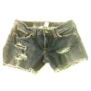 Lucky Brand Dungarees Distressed Denim Shorts
